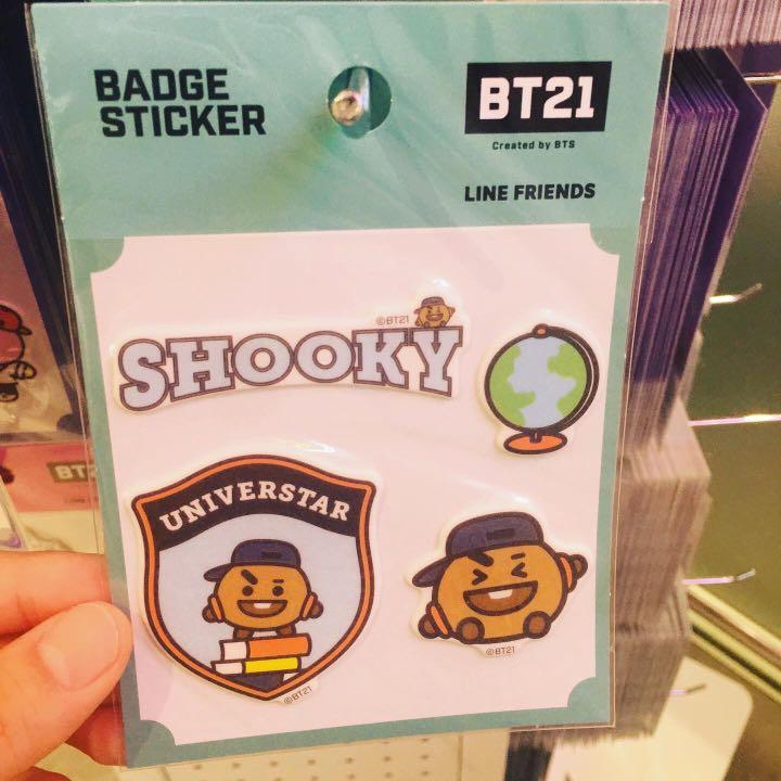BT21 Official Badge Sticker