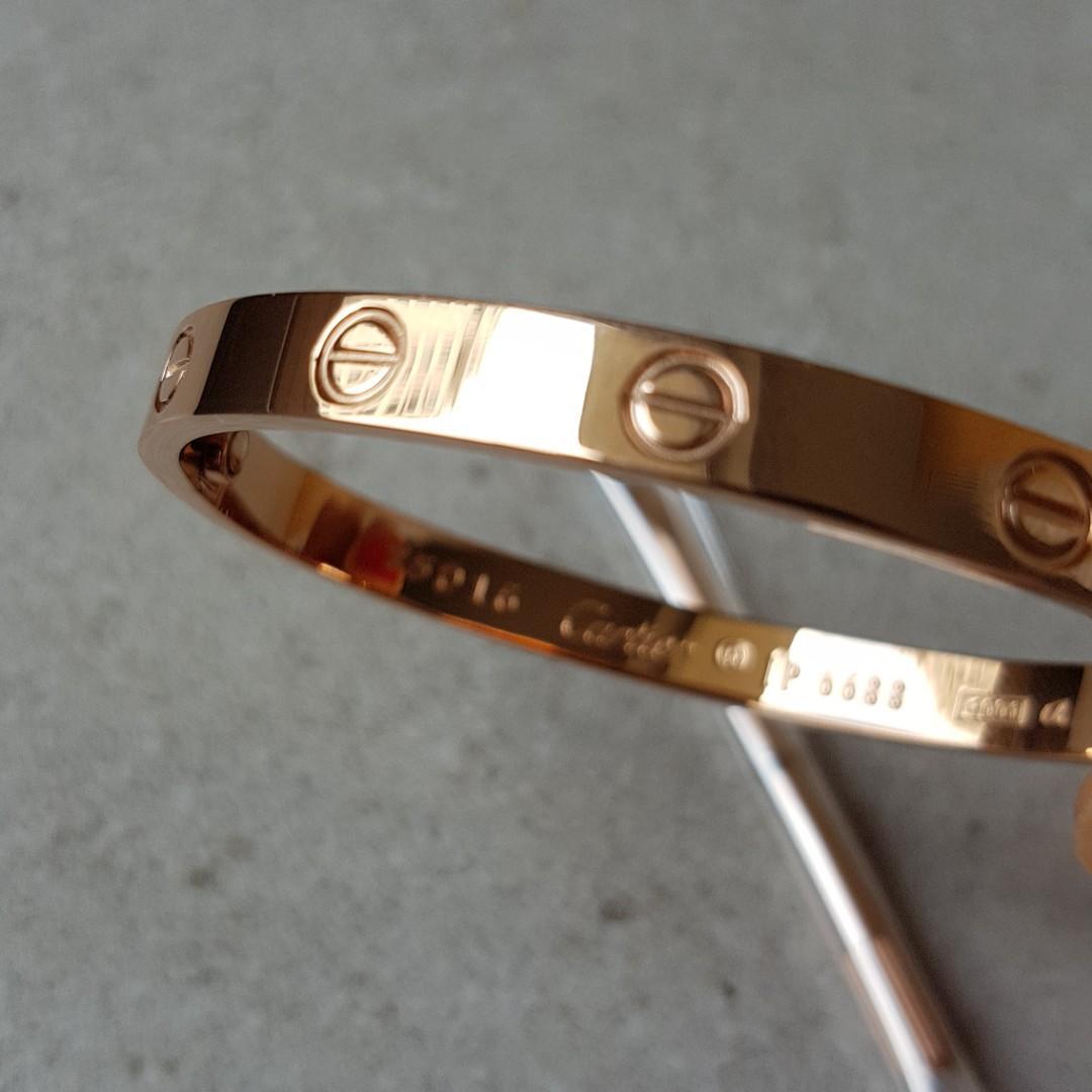 Cartier love rose gold bracelet