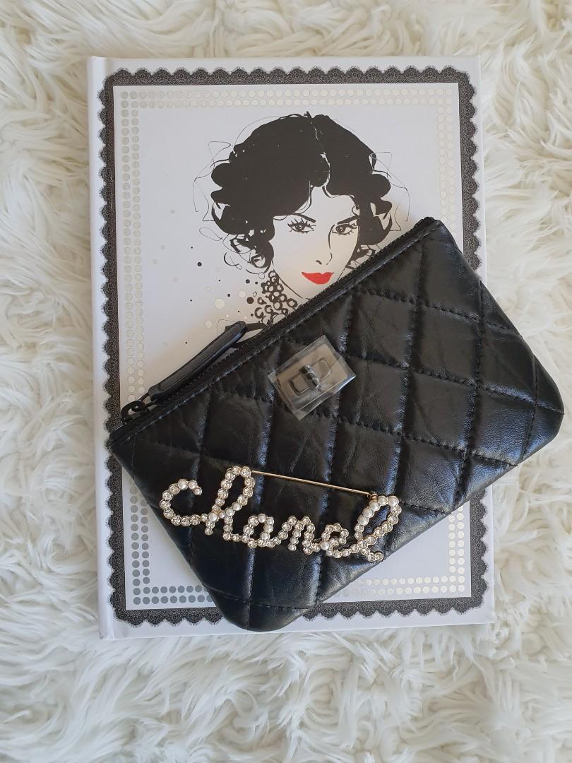 Chanel 19K So Black Mini Ocase in Aged Crumpled Calfskin