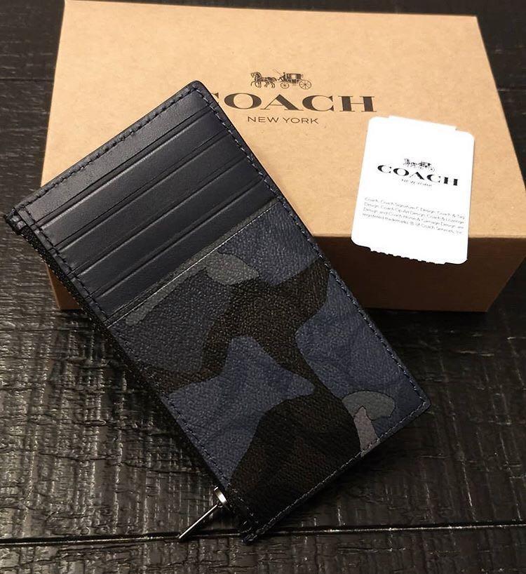 現貨❗️Coach Men Card and Coin Holder 男裝散銀卡片套.