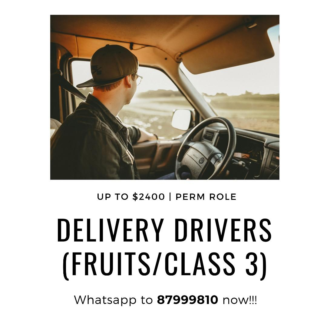 Delivery Drivers @ West (Class 3, Fruits, UP $2400)