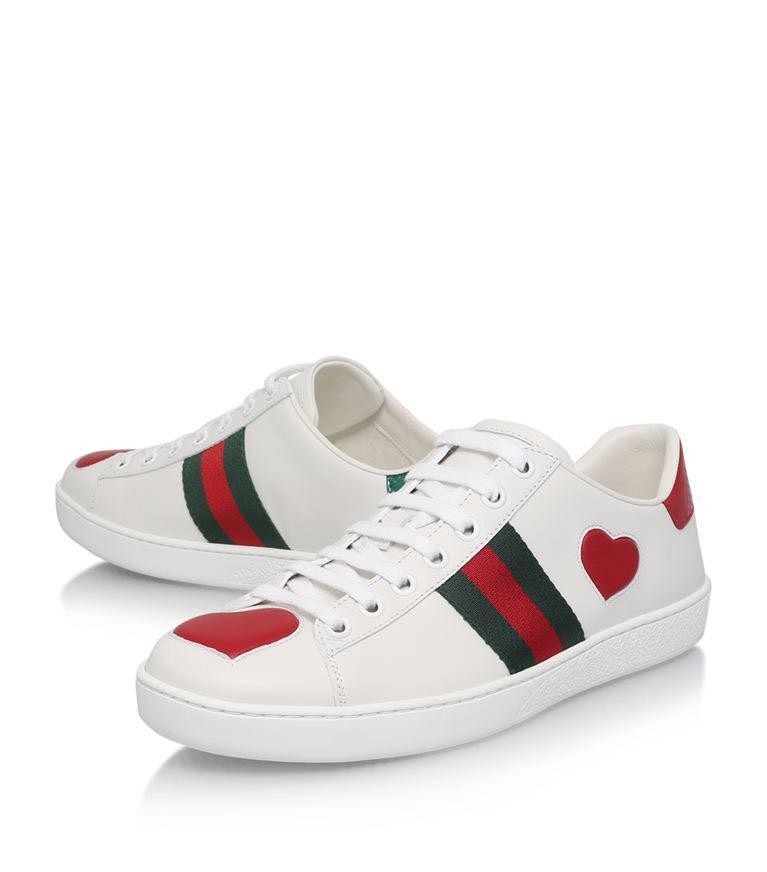 Gucci Heart Ace Sneakers, Women's