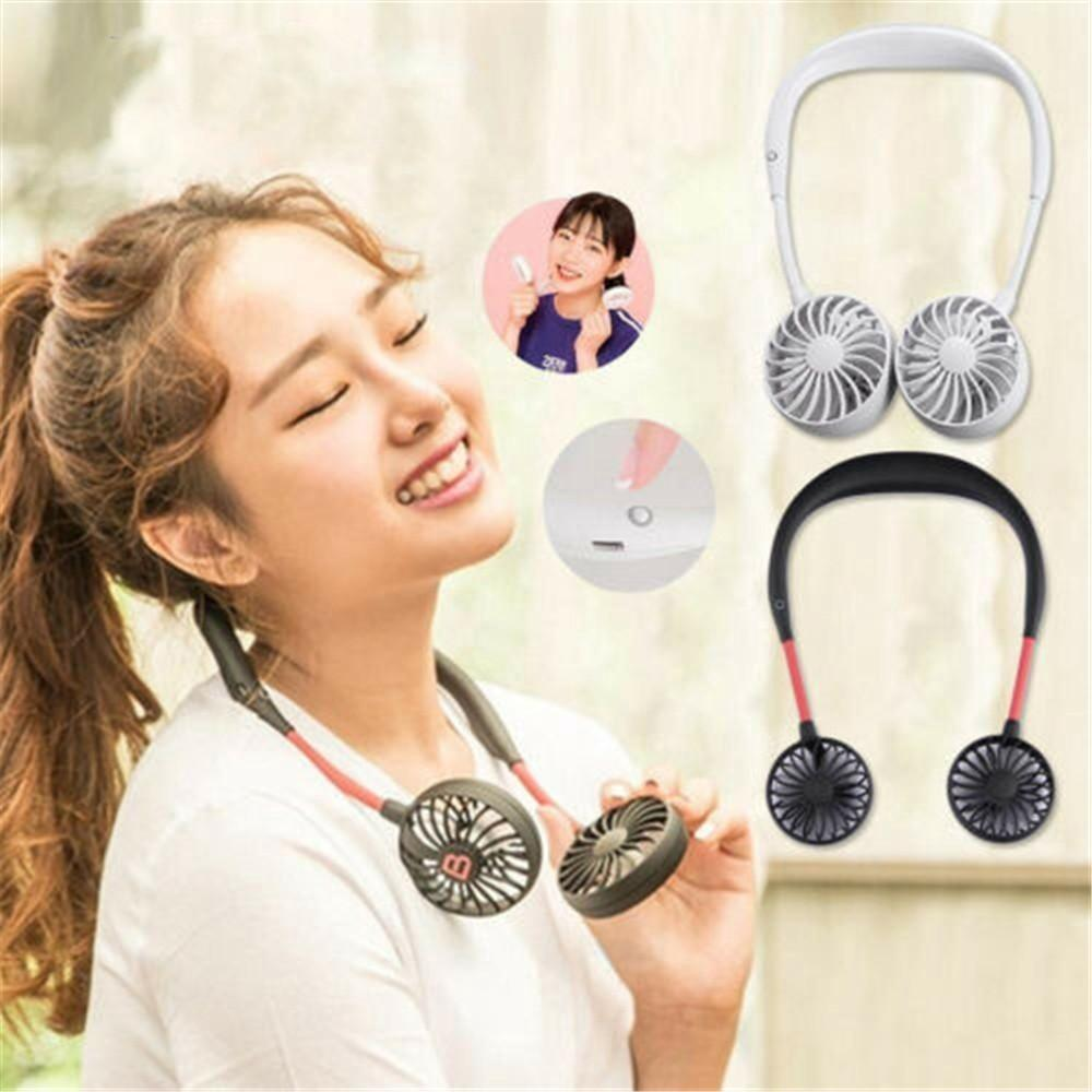 Hand free fan with 3 speed handfree flexible fan