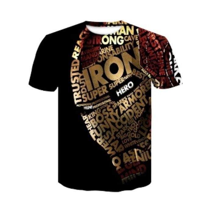 Ironman ready stock 3d graphic tee