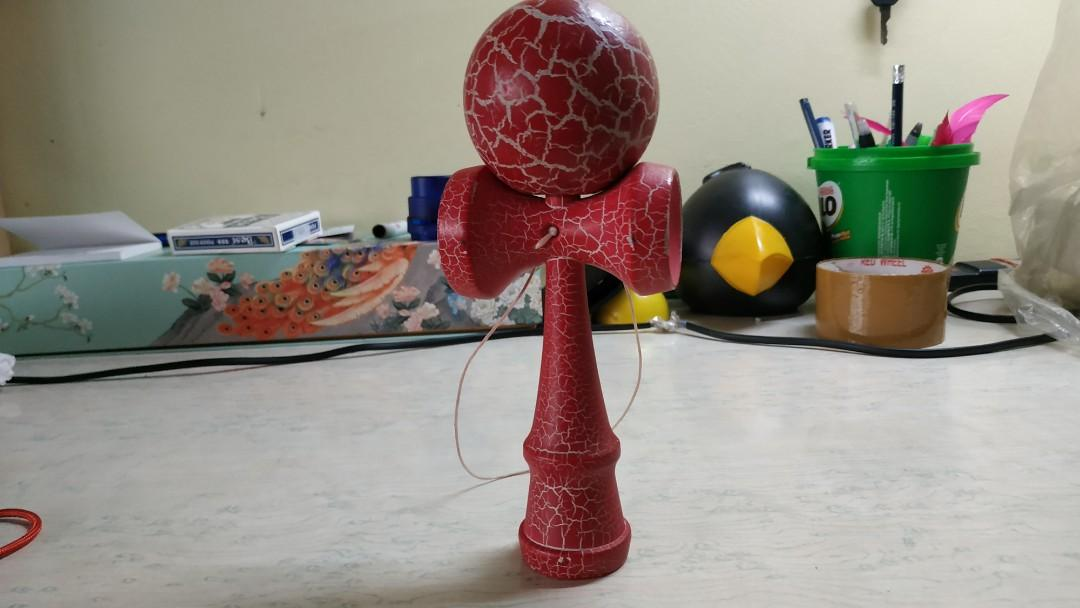 Kendama Toy (Red and White)
