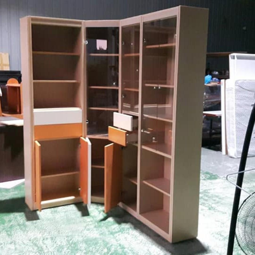 合運二手傢俱~L型訂製款書櫃A02522