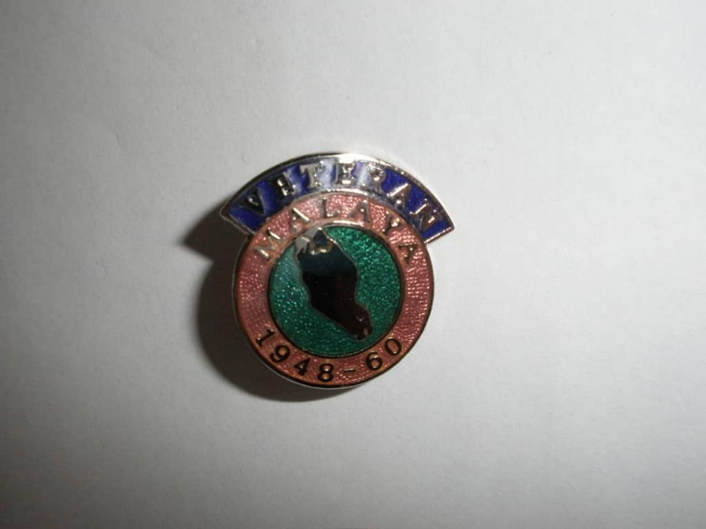Malaya Veteren Pin/Lapel Badge 1948-60