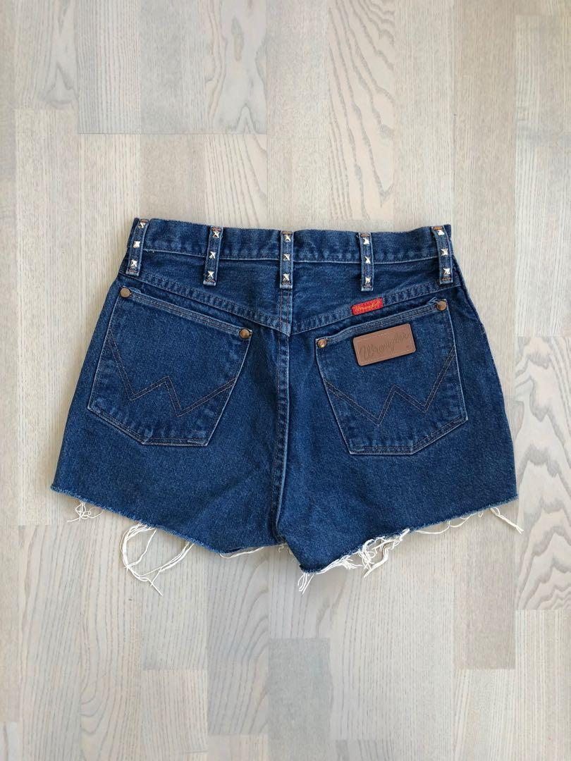 Levi's Wrangler vintage distressed demin shorts (US 7)