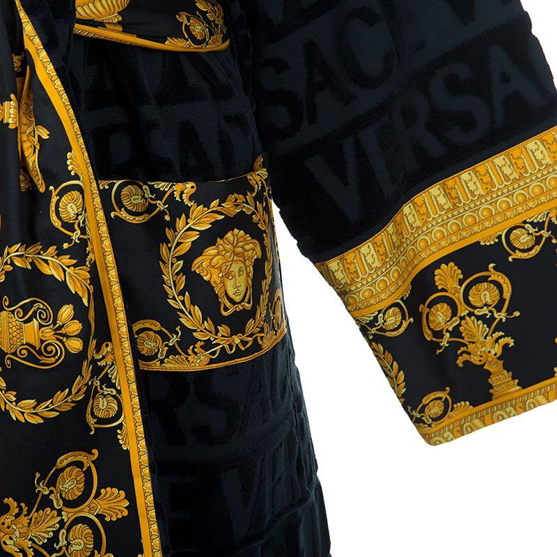 Luxury Italian Printing Logo Baroque Jacquard Bathrobes Medusa Designer Night Robes