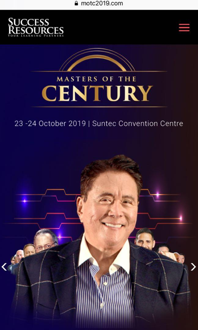 Masters of the Century Singapore 23-24 Oct 2019 Gold Tickets x 2