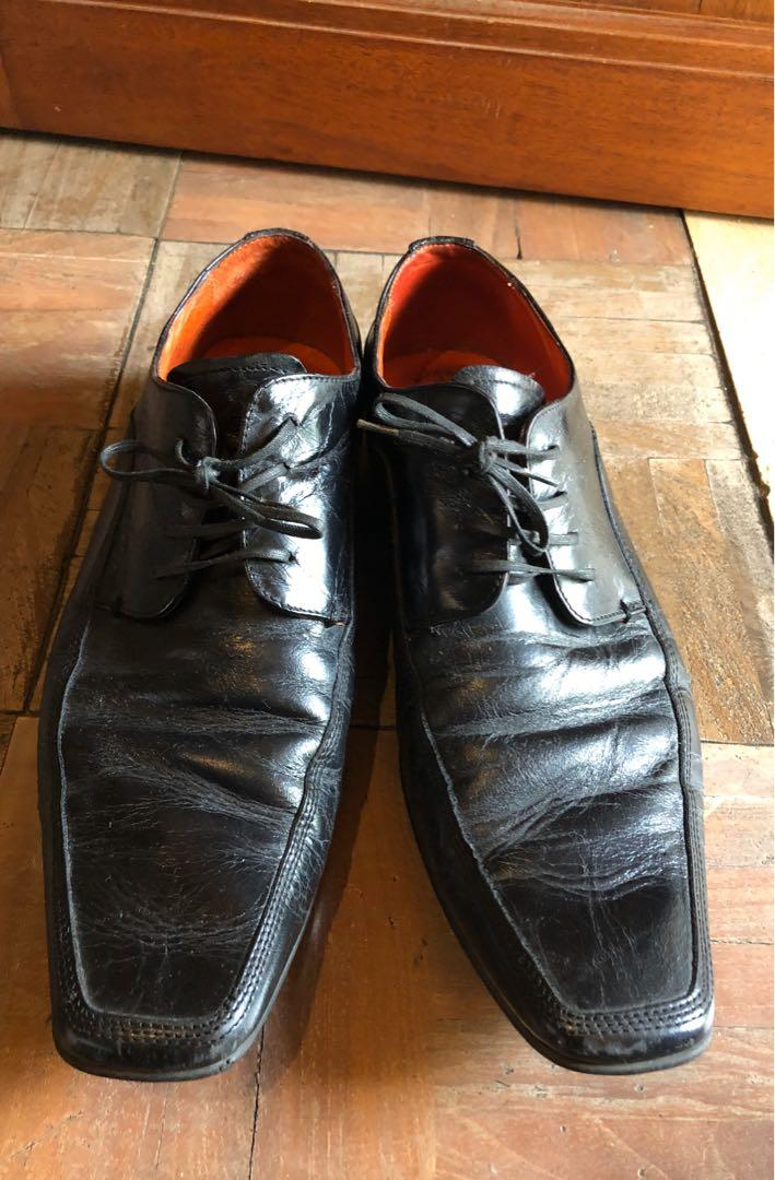 NEXT Distressed faux leather shoes