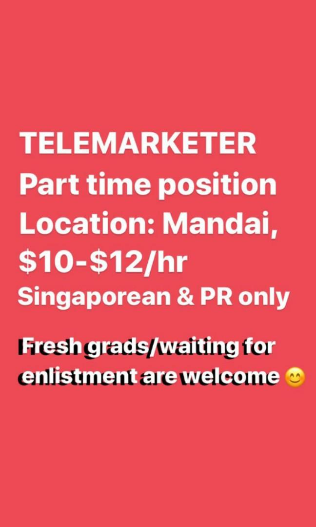 Part-Time Telemarketer Wanted!