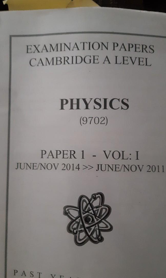 Physics A level past year paper 1