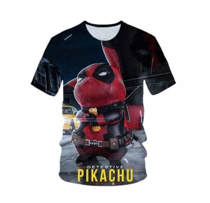 Pikachu 3d graphic t shirt ready stocks
