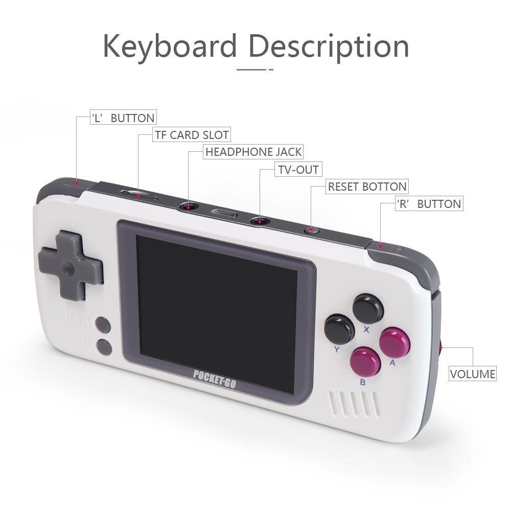 PocketGO-Video Game Console- 2.4inch Portable Retro Game Console