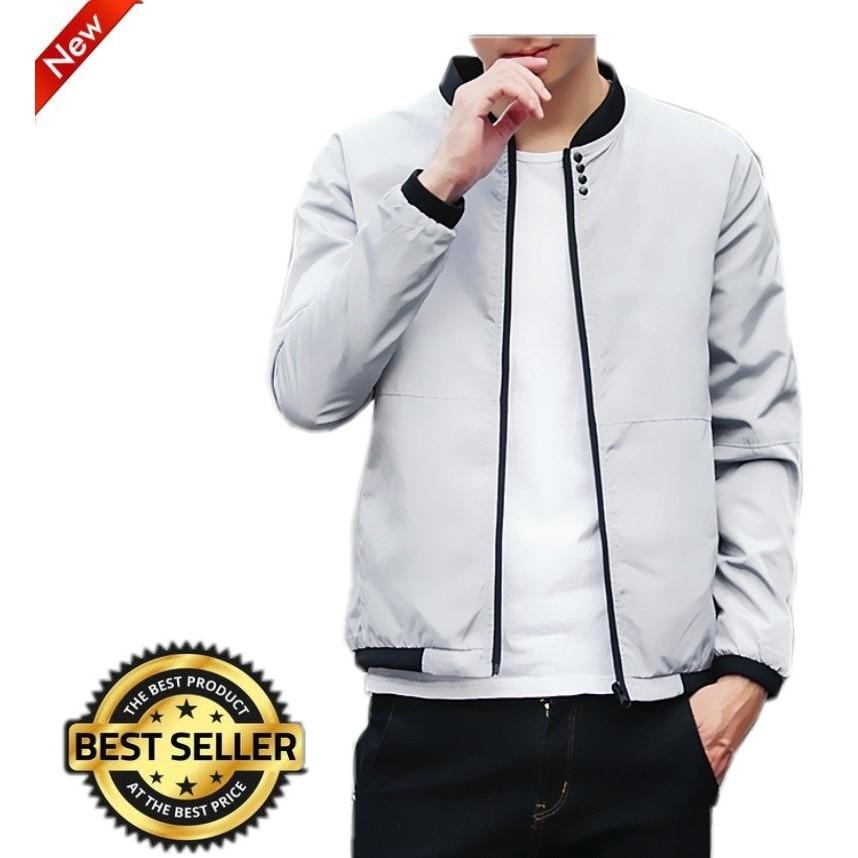 Ready Stock Korean Style Casual Men Slim Fit Bomber Jacket