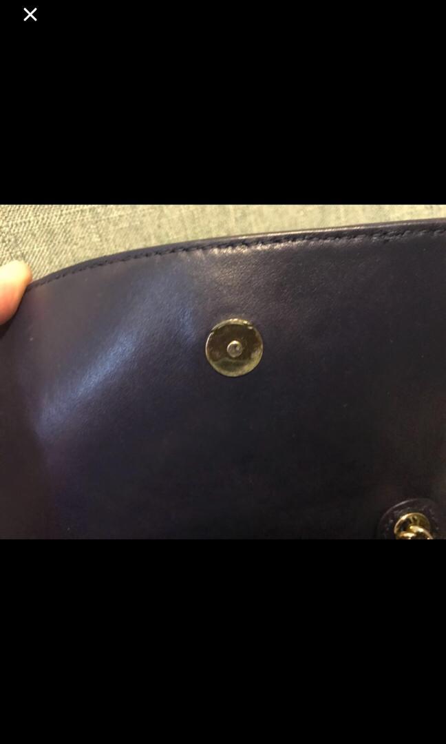 real tory burch navy blue crossbody bag