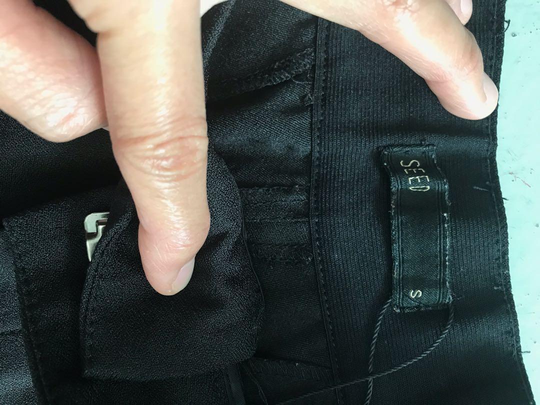 Seed black ankle pants