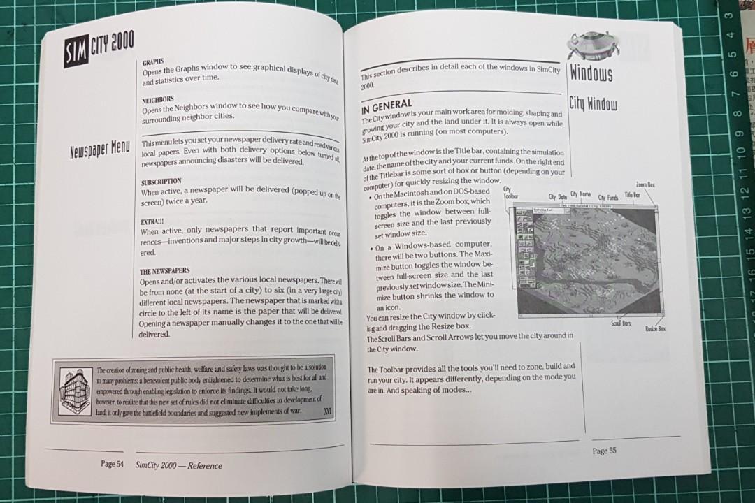 Sim City 2000 (The Ultimate City Simulator) Manual Book
