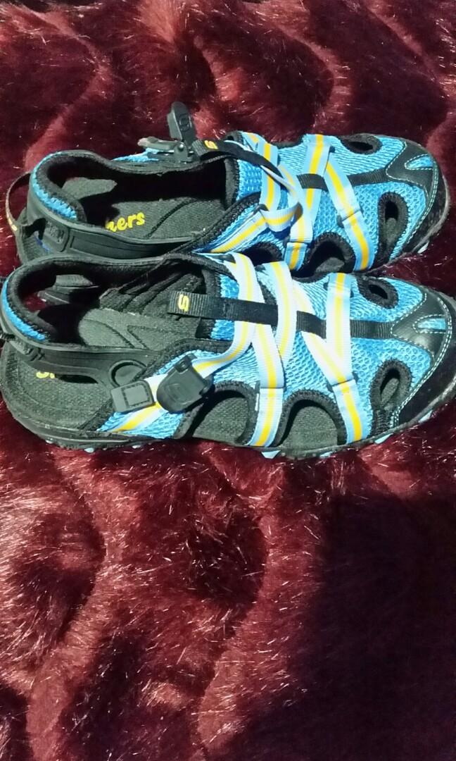 Skechers - Wildlife Sling backs - Blue/Black - us size 7.5