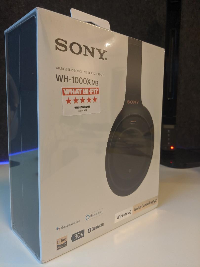 Sony WH-1000XM3 - Noise Cancelling Headphones (Black)