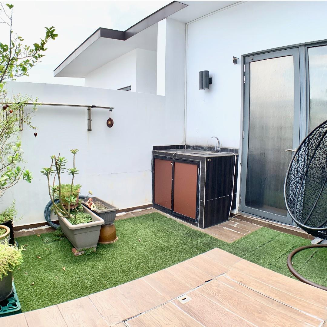 Spacious penthouse unit with private swimming pool and rooftop.