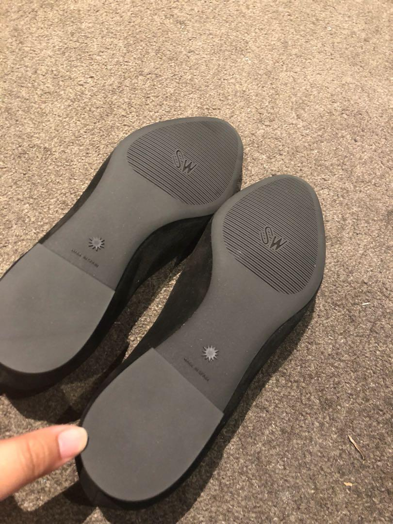 suede flat shoes Stuart Weitzman