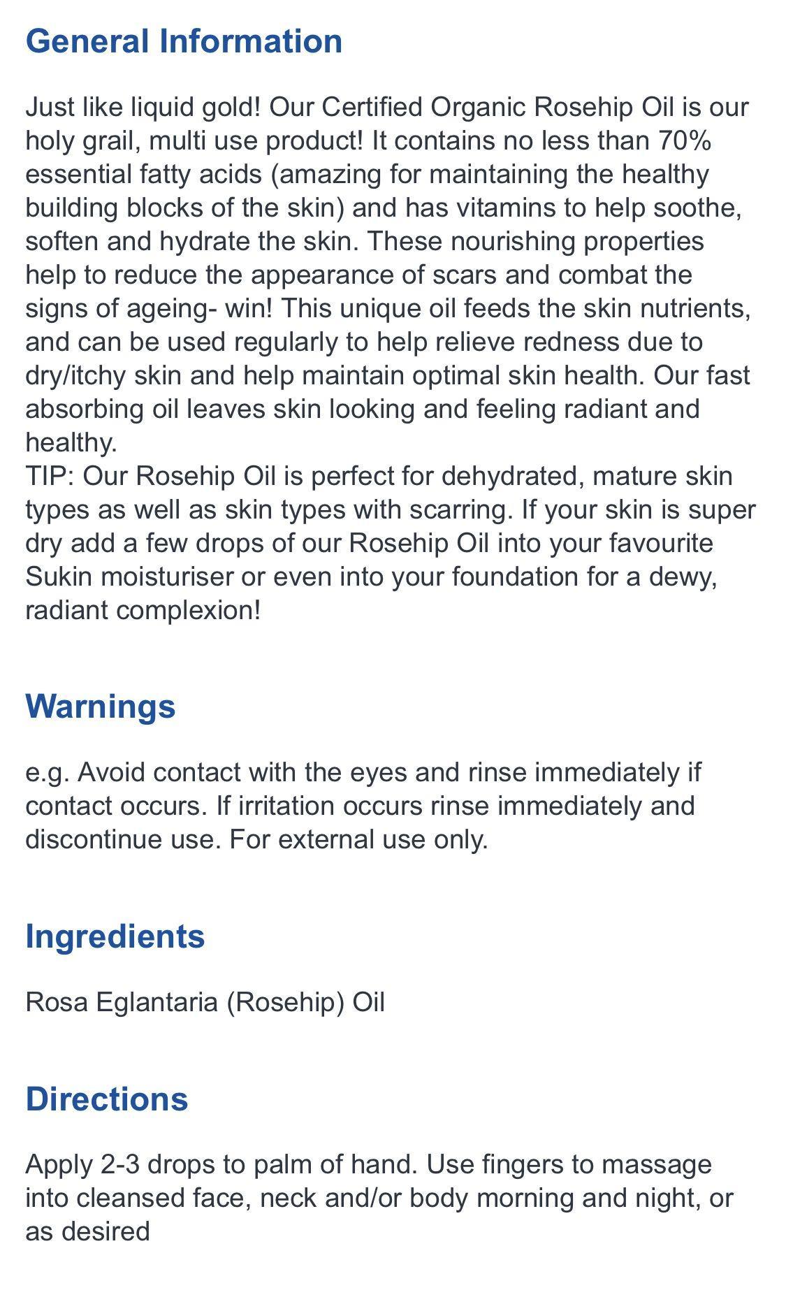Sukin organic rose hip oil