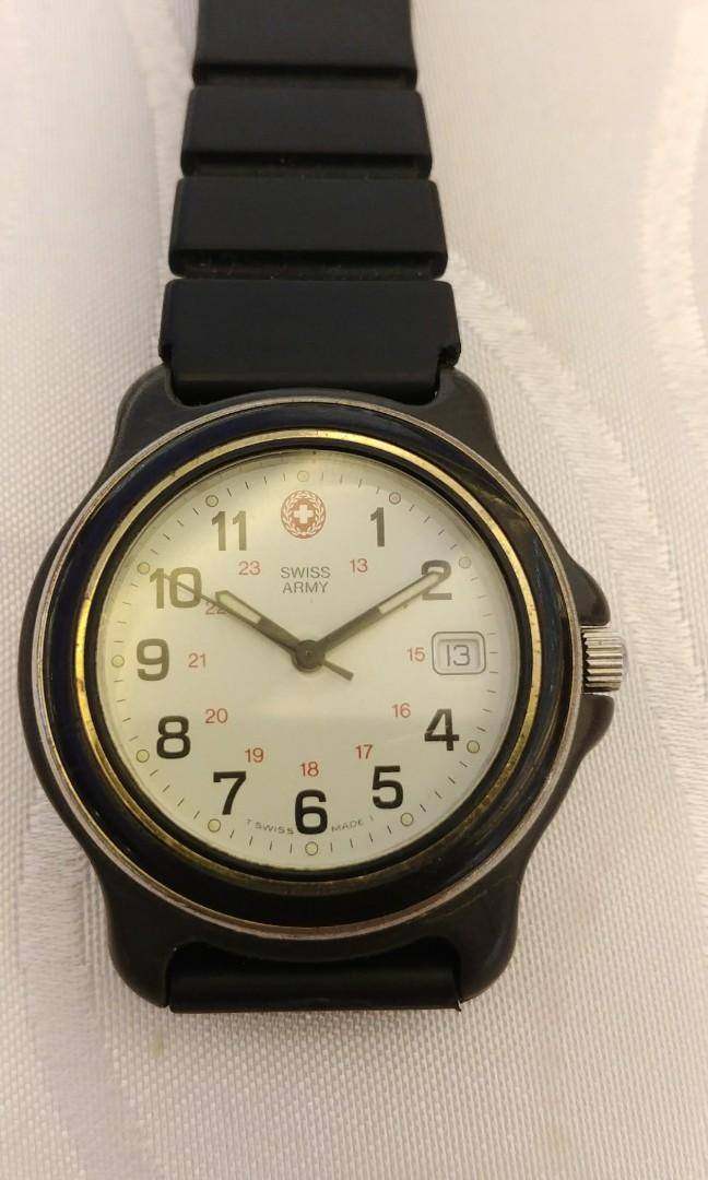 Swiss Army qz watch w/date