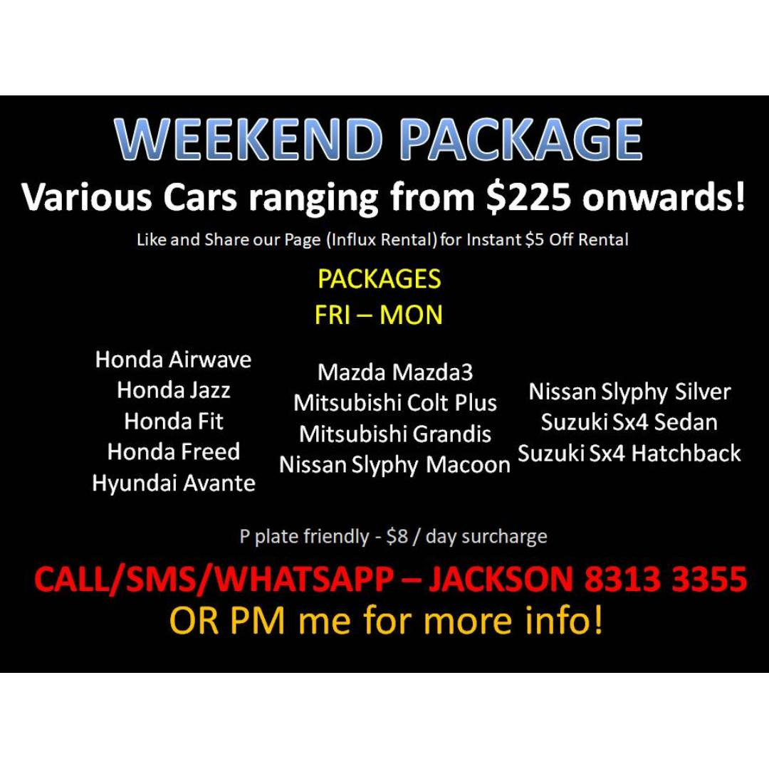 This Weekend Package (P Plate Are Welcomed)