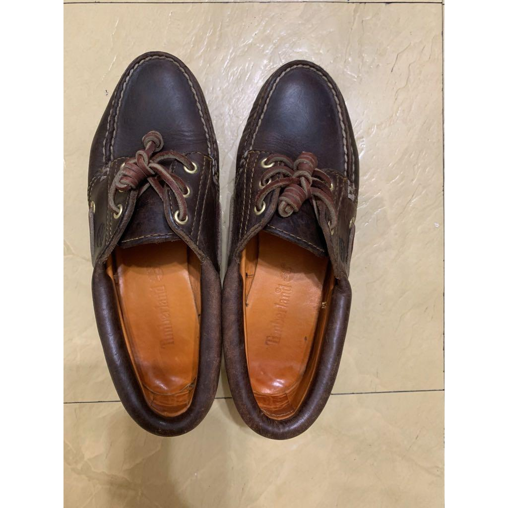 Timberland 真皮經典雷根鞋 帆船鞋 36號