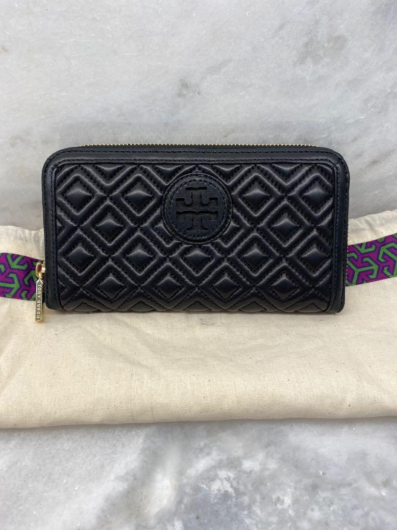 Tory Burch Black Quilted Leather Pristine condition