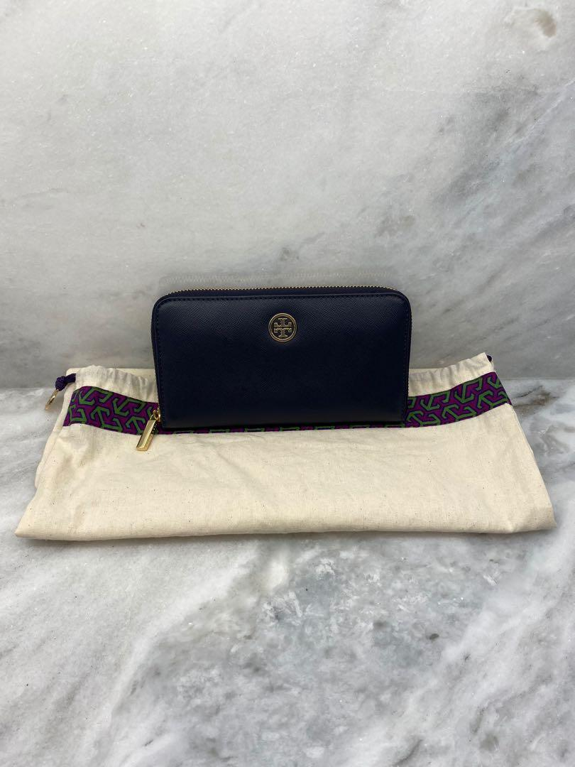 Tory Burch Navy Blue Leather Wallet Excellent condition