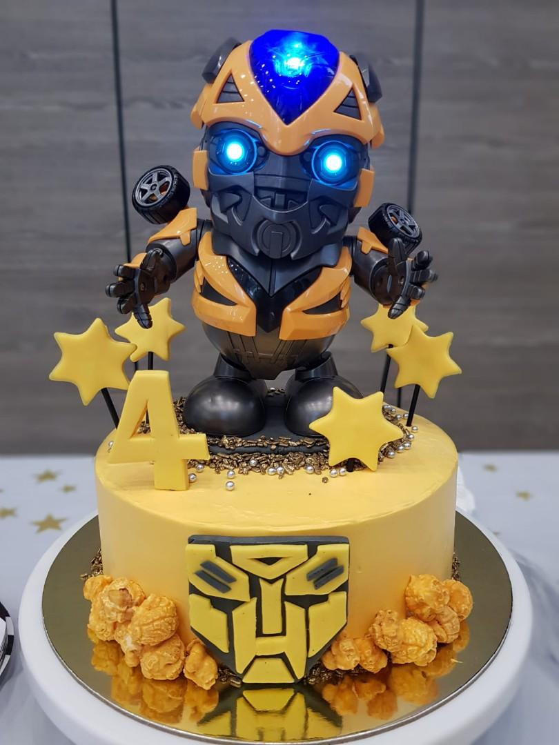 Groovy Transformer Bumblebee Birthday Cake Food Drinks Baked Goods On Personalised Birthday Cards Paralily Jamesorg
