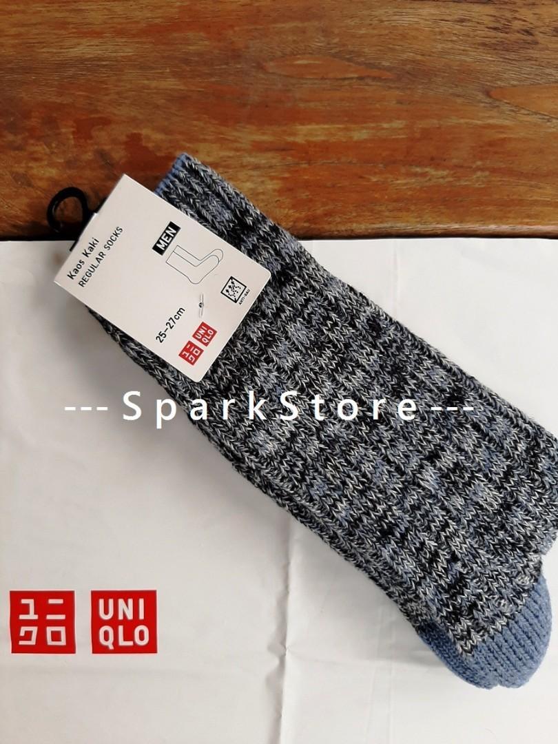 Uniqlo Kaos Kaki Slub Socks Biru
