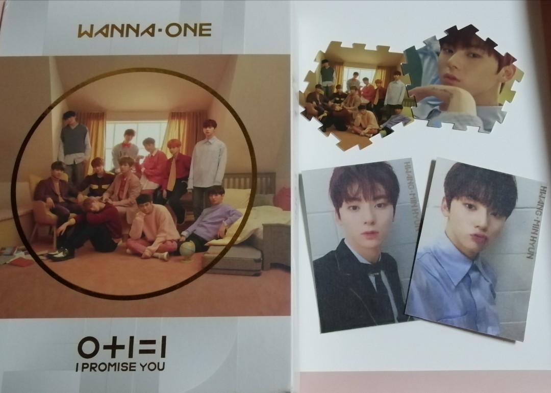 Wanna One 0+1=1 (I Promise You)Day Ver Album Minhyun Full Set