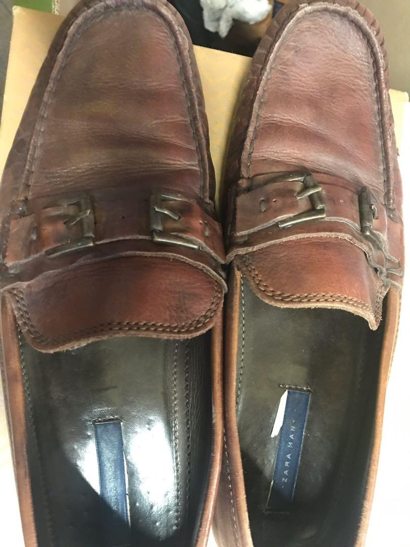 Zara man leather loafers