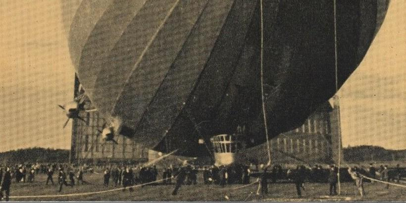 ZEPPELIN 1937 Airship Photo Plate
