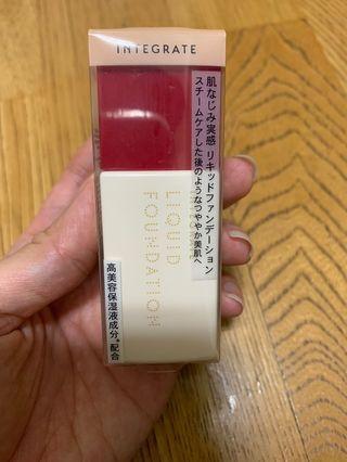 INTEGRATE  高美容保濕精華粉底液SPF30PA++色號00。最淺色適合白皙或是自然偏白都可以