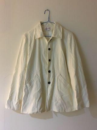 極新✨簡約文青白色外套