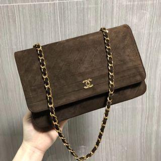 Chanel 麂皮絨面woc鏈條包