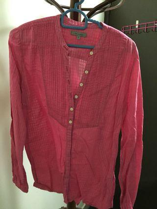 Pink cotton tops