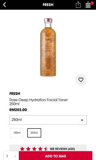 Fresh Beauty Rose Hydration Toner