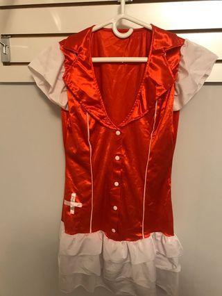 6 pc Nurse Costume (S-M)