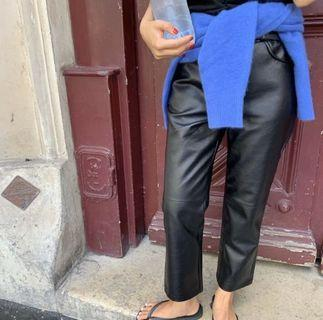 ✨類皮革質感 皮褲 / M