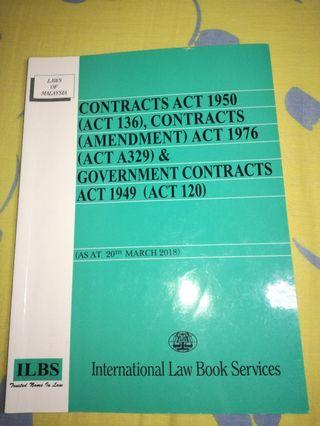 Contract Acts 1950, Partnership Act 1961, Hire-Purchase Act 1967