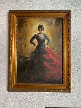 Flamenco Dancer Oil on Canvass Painting