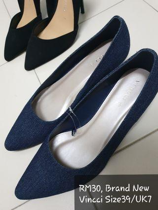 BN Vincci Denim Wedge Heels UK7, Size39/40