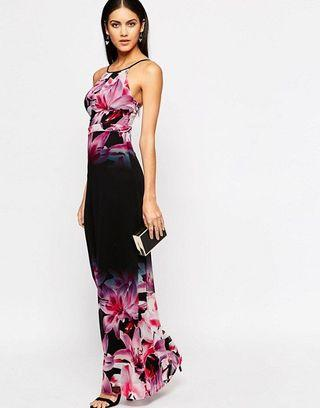 Lipsy Printed Floral Maxi Dress UK10