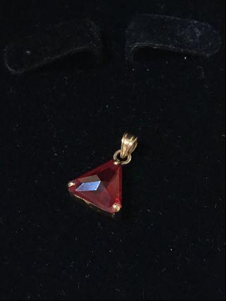 紅色寶石K金墜子